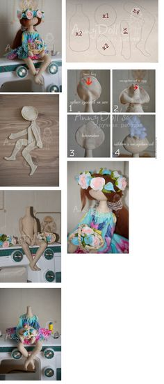 Doll pattern and helpful images.