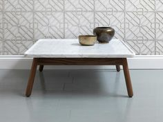 table by Bethan Gray, the wall is gorgeous too