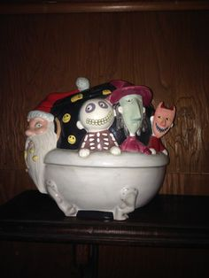 Disney Tim Burton Nightmare Before Christmas Cookie Jar Rare Collectible