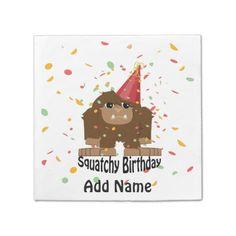Cute Squatchy Birthday Bigfoot