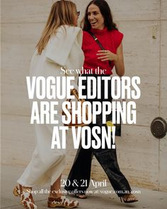 Snoop what Vogue editors have in their cart for VOSN. Editor, Fashion News, Vogue, T Shirt, Shopping, Tops, Women, Supreme T Shirt, Tee Shirt