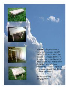 repurposed driftwood stools