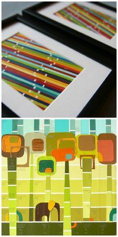 Blog diy. Kunst du selv kan lave af farvekort