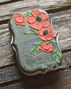 Brushed Poppies | Cookie Connection