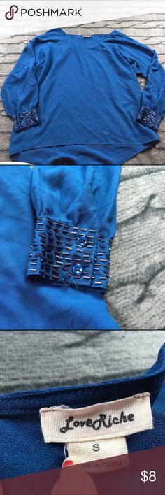 Love Richie blue blouse small Love Richie blue blouse Small good condition C11 Love Riche Tops Blouses