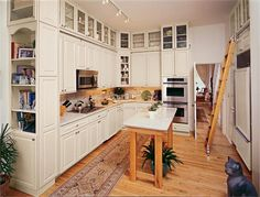 Decora Kichen Cabinets Double Wall Oven with Ceiling Light
