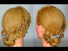 Прическа с плетением на длинные волосы! Braided hairstyle tutorial - YouTube
