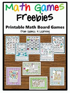 Math games: Tons of FREE math math board games packets! Math Tutor, Teaching Math, Math Math, Guided Math, Multiplication Games, Teaching Numbers, Math Education, Teaching Tools, Math Board Games