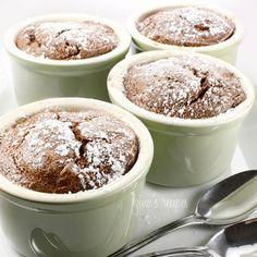 Chocolate banana souffle