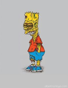 Iconic Pop Culture & Cartoon Characters Illustrated As Gruesome Zombies - DesignTAXI.com
