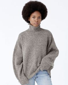 Pure Wool turtleneck crafted in Spain. Extra oversized and cozy. A great quality knit for everyday wear.