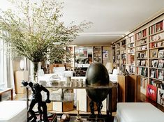 A view into Yves Saint Laurent's library