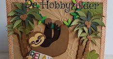 De Hobbyzolder: Relax it's your birthday Marianne Design Cards, Relax, It's Your Birthday, Pastels, Diy And Crafts, Frame, Sloths, Handmade, Scrapbooking Ideas