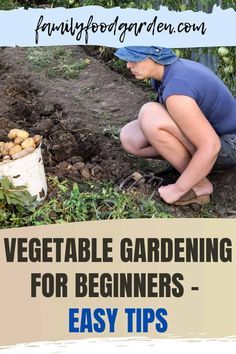 Sharing with you easy tips for vegetable gardening for beginners. Growing your first garden will be the best thing you ever do! Even if you get very little harvests that year you're taking a great step towards growing some food for yourself or your family! Here's a more detailed beginner gardening post & one on starting your new garden. Check this pin! #vegetablegardening #gardening #vegetable