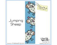 Peyote Pattern for bracelet - Jumping Sheep - INSTANT DOWNLOAD pdf - Multibuy savings with coupon codes - bp7