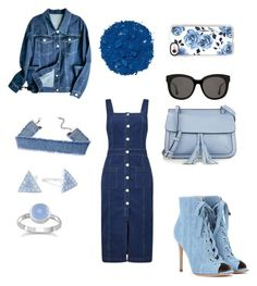 """""""Untitled #7"""" by pisicutasimpatica on Polyvore featuring Miss Selfridge, Gianvito Rossi, Casetify, Gentle Monster, KC Jagger, Belk Silverworks and Illamasqua"""