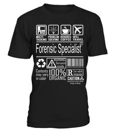 Forensic Specialist - Multitasking