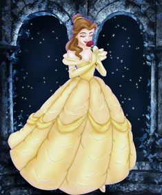 Disney princess Belle (Beauty and the Beast). Also you can see my other drawing of Disney princess: Ariel Disney Belle, Film Disney, Disney Fan Art, Disney Love, Disney Magic, Disney Pixar, Tiana Disney, Disney Girls, Disney Stuff