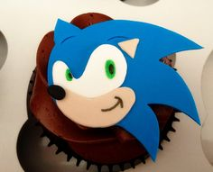 Emily's Delights: Sonic the Hedgehog Cupcakes & Toppers