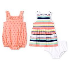Cherokee® Baby Girls' 2 Pack Dress and Romper