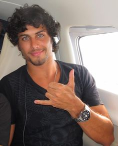 "Madonna's ex boyfriend, Jesus Luz adorable face not loving the hair..Why Do Brazilian Guys always do that w/ their hand when they take pictures...like ""call me...'kay!"" lol ""Sure! Baby!"" Lol"