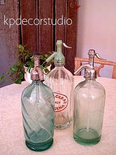 KP. Comprar sifones antiguos en botellas antiguas de los años 40 y 50