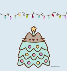 Pusheen the Cutest Christmas Tree Ever Wallpapers Kawaii, Kawaii Wallpaper, Iphone Wallpaper, Pusheen Love, Pusheen Cat, Christmas Cats, Christmas Humor, Pusheen Christmas, Kawaii Drawings