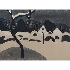 Kiyoshi Saito, woodcut