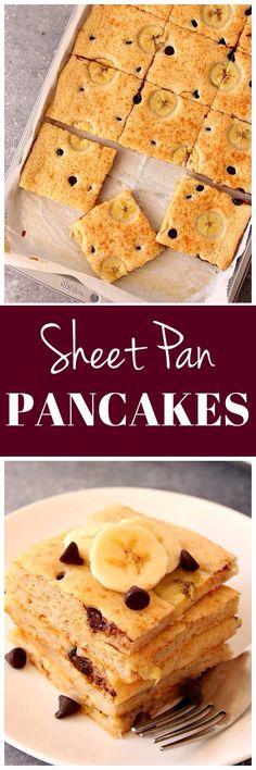 Sheet Pan Pancakes Recipe - the fastest way to make pancakes! www.crunchycreamysweet.com