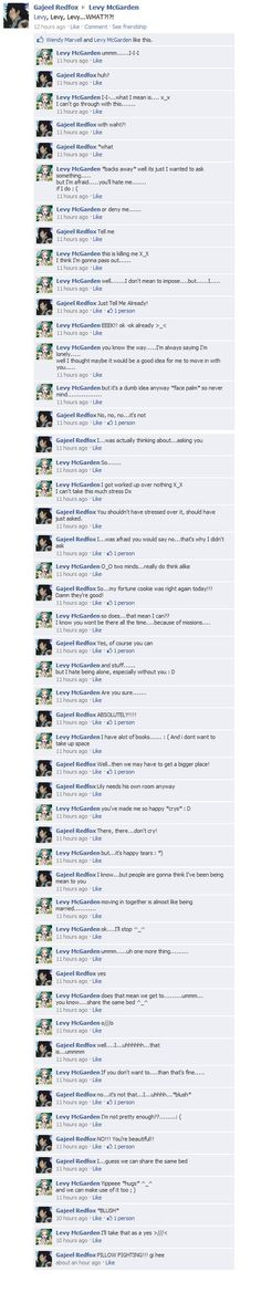 more Gajeel x Levy by FairyTailFacebook<<<Stars Gajeel is more innocent that Levy is and no one notices