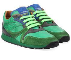 Groene Rondinella kinderschoenen 10129 sneakers