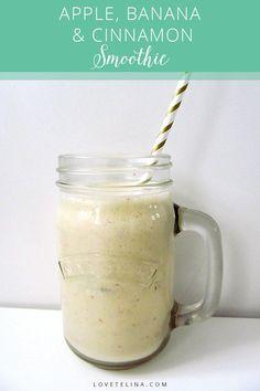 Apple, Banana & Cinnamon Smoothie Recipe - delicious!