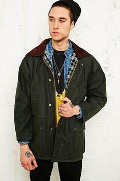Vintage Renewal Wachsjacke in Grün bei Urban Outfitters