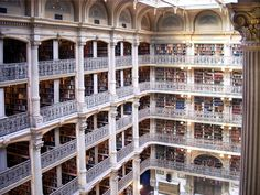 George Peabody Library in Baltimore, Maryland