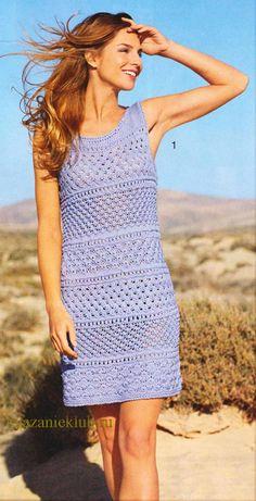 Платье спицами для женщин - Вязание спицами для женщин - Каталог файлов - Вязание для детей