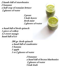 Green Smoothie Recipes by Mandy