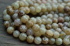 "Sam's Bead Shop: Carved Jade Rounds - 8mm - 15"" Strand #beads #gemstone #beading #jewelrymaking #diyjewelry #diyjewelrymaking #jewelrydesign #handmade #diy #accessories #samsbeadshop"