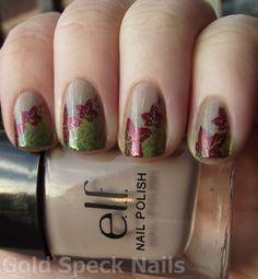 Nail Art - fall leaves