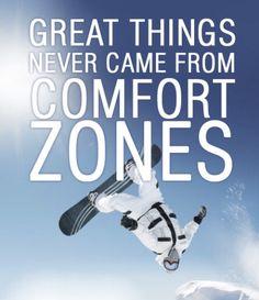Snowboarding Quotes, Comfort Zone