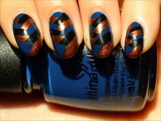 Fishtail Braided Nails Nail-Art Tutorial & Pictures - I LOVE the colors...especially the copper color!!!