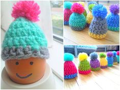 Egg cosy hats tutorial.might be used as a micro preemie hat. Kim Black