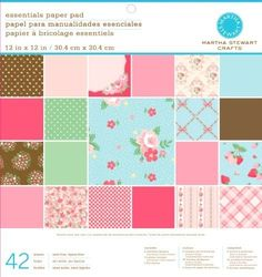 Martha Stewart Crafts Paper Pad, Vintage Girl, 42 Sheets, 12 by 12 inches Baby Shower Party Games, Baby Shower Invites For Girl, Diy Crafts For Gifts, Paper Crafts, Baby Shower Checklist, Martha Stewart Crafts, Online Craft Store, Diy Invitations, Vintage Girls