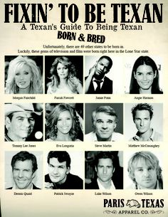"Part 5 of our ""Fixin' To Be Texan: A Texan's Guide To Being Texan"" series, Born & Bred"