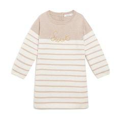 Robe tricot rayée