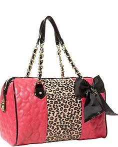 Purse..Betsy Johnson in pink & leopard Fun!