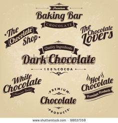 stock vector : Premium Retro Chocolate Vintage And Label Set