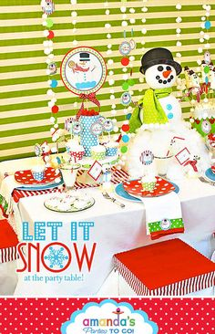 Super cute snowman party! Love this party!