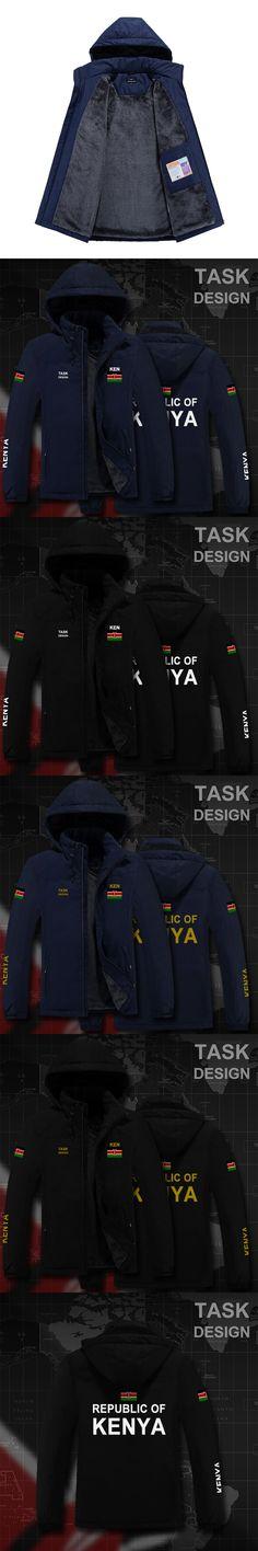 Republic of Kenya Kenyan KEN parka men winter jacket mens coat clothing fur hooded snow windbreaker bomber streetwear fashion