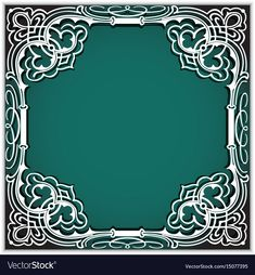 Square cutout paper frame with lace corner vector image on VectorStock Royal Art, Invitation Background, Laser Cut Jewelry, Leather Bound Books, Flower Embroidery Designs, Decoupage Vintage, Frame Clipart, Paper Frames, Wedding Invitation Templates