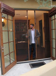 Outdoor retractable screen doors are an elegant upgrade from traditional fixed screen doors and storm doors.